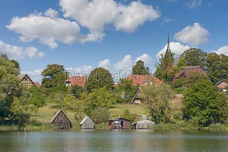 village of wustrow in mecklenburg lake