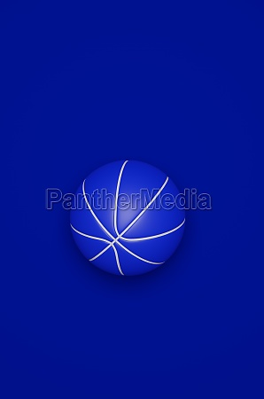 blue basketball on a blue background