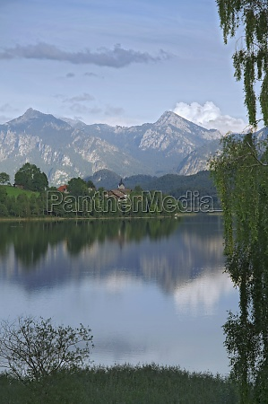 lake in the alps in the