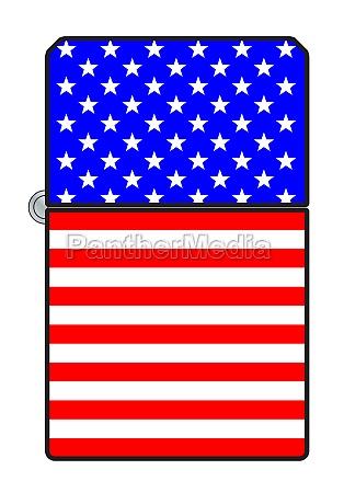 usa flag cigarette lighter
