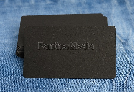 blank black paper business cards