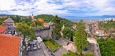 city of rijeka and trsat panoramic