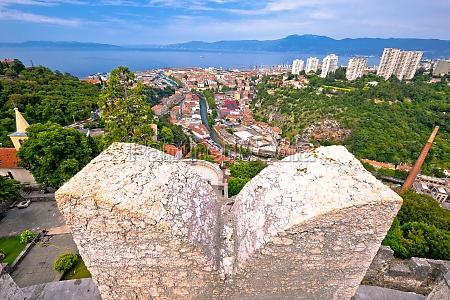 city of rijeka panoramic view from