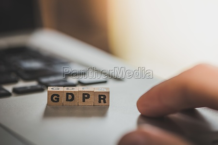 wooden cubes with the letters gdpr