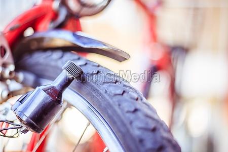 bike in the city close up