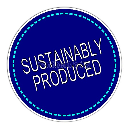 sustainably produced sticker blue