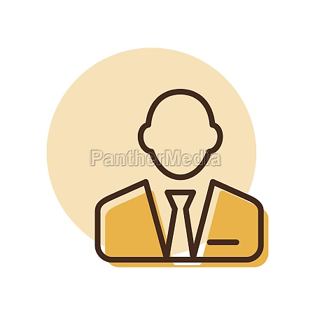 user icon of man in business