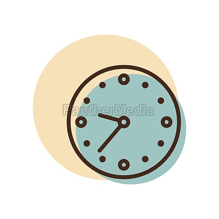 clock outline icon workspace sign