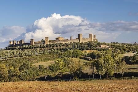 old town monteriggioni tuscany italy