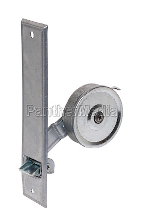 closeup of a belt winder for
