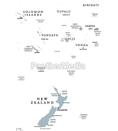 new zealand and southern polynesia gray
