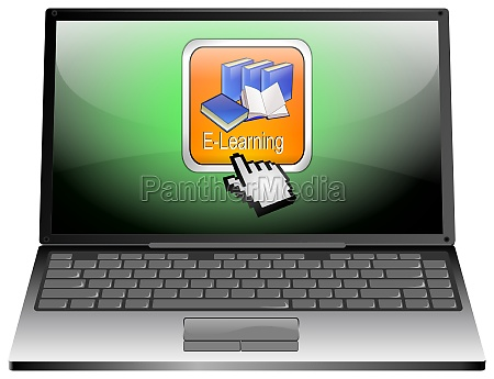 laptop computer with e learning button