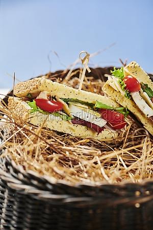 a basket of pita bread pockets