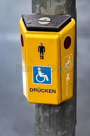 button on a traffic light