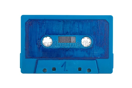 scribbeld blue audio tape
