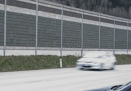 noise barrier on the motorway