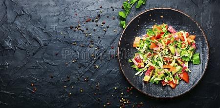 spring fresh vegetable salad