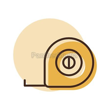 tape measure vector flat icon