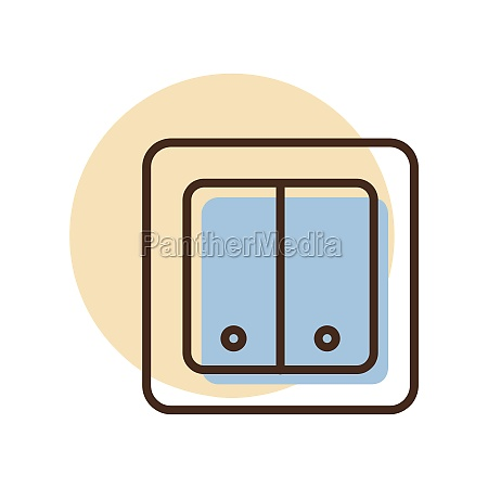 electrical switch two buttons icon