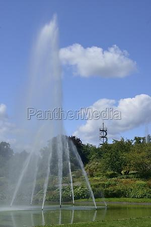 water jets at urban park stuttgart