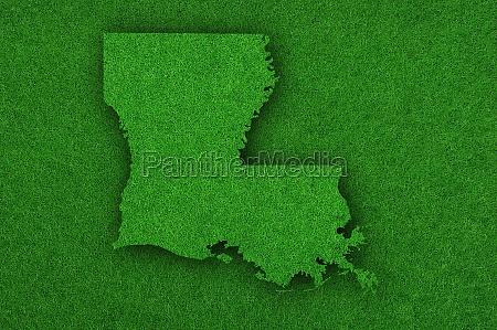 map of louisiana on green felt