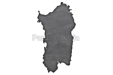 map of sardinia on dark slate