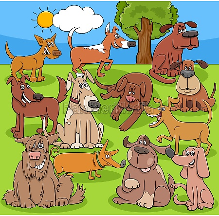cartoon funny dogs and puppies comic