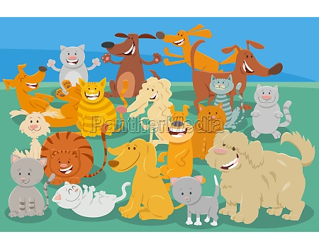 cartoon dogs and cats comic animal
