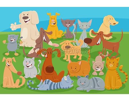 cartoon cats and dogs comic animal