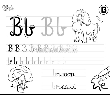 learn to write letter b workbook