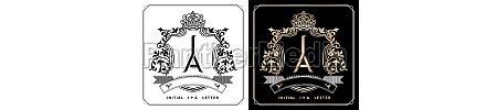 ia or ai royal emblem with
