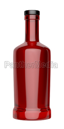red bottle for alcoholic beverage