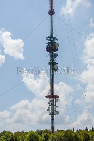 a 227 meter high transmission mast