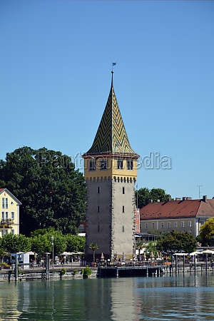 port of lindau with mang tower