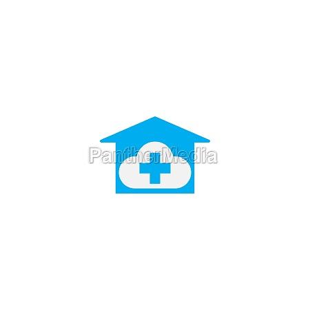 cloud home care concept logo icon