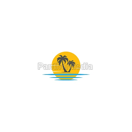palm beach vitamin logo concept