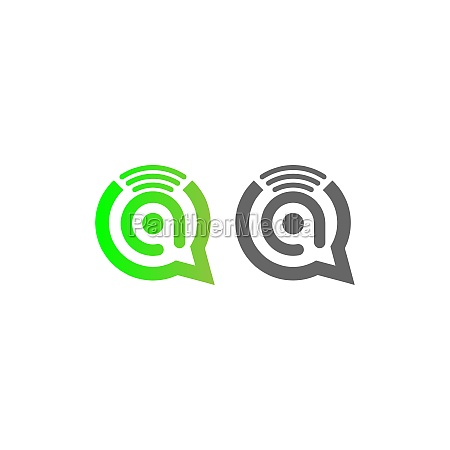 letter a wireless internet in the