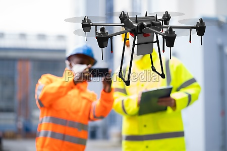 industrial unmanned drone survey and discovery