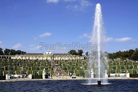 sanssouci castle park in potsdam