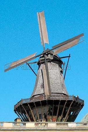 historic windmill in potsdam germany