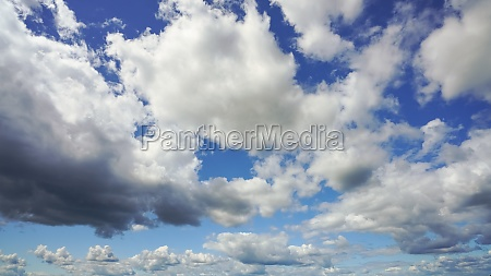clouds on blue sky as natural