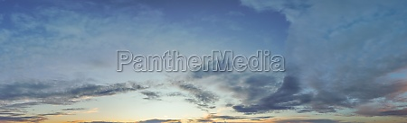 panorama of dramatic sky background