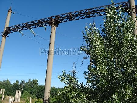 high voltage power lines high voltage