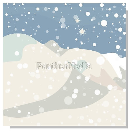winter abstract background mountains and snow