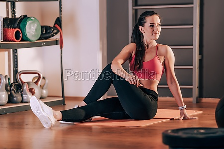 stretching the body before exercise in
