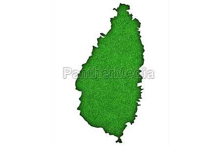 map of saint lucia on green
