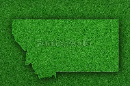 map of montana on green felt