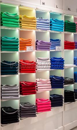 polo shirt shop interior