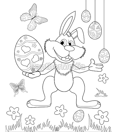 easter bunny coloring book 1