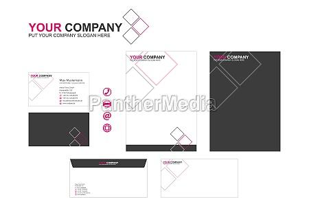 corporate design stationary logo icons modern